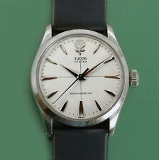 Vintage 1958 Tudor Rolex Oyster  Men's Watch With Unusual Original Dial
