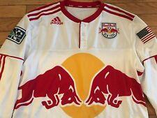 VTG New York Red Bulls MLS Longsleeve Adidas Soccer Football Henry Jersey 2010 L