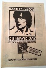 MURRAY HEAD Say It Ain't So 1976 UK Poster size Press ADVERT 16x12 inches