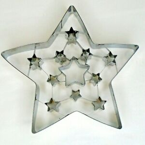 """William Sonoma Giant Large Christmas Cutout Star Tin Metal Cookie Cutter 7.5"""""""