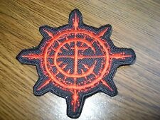 CARPATHIAN FOREST LOGO,SEW ON RED EMBROIDERED PATCH