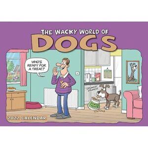 Wacky World Of Dogs A4 Calendar 2022 NEW