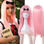 Kaguyasama Love is War Fujiwara Chika Pink Long Straight Cosplay Party Hair Wig