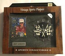 "Vintage Sports Plaque ""JEFF GORDON #24"" Clock & Trading Card & Name Plate  #3286"