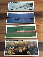 Bahn-Werbeschilder aus den 1980er Jahren