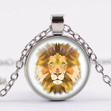 Chain Pendant wholesale Silver Jewelry Lion Necklace Lion Jewelry Glass Dome