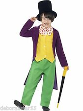 Roald Dahl Willy Wonka Fancy Dress Costume Boys World Book Day Outfit 7-12