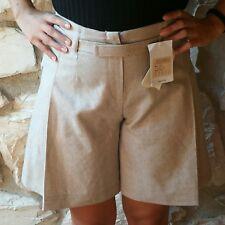 Shorts gonna pantalone in pura lana color lino naturale KoKo taglia 42 NUOVO bdc3e5983e0