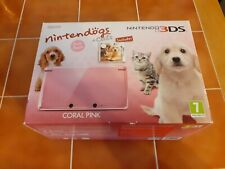 Nintendo 3DS Coral Pink Fully Boxed Console Inc Nintendogs - VGC