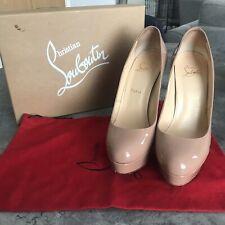 Authentic Christian Louboutin Heel 'Bianca 140 Patent Calf' Nude (39.5, UK 6.5)