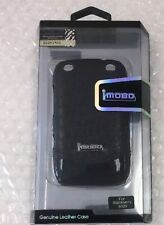 iMOBO Leather Cell Phone Case for Blackberry 9320 black new