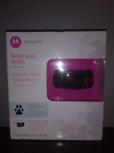 New Motorola Dog Training No Bark Pet Collar ScoutBark100 Adjustable Waterproof