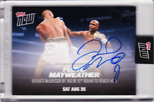 Floyd Mayweather Autograph Defeats Conor McGregor 2017 TOPPS NOW MM4A AUTO 49/49