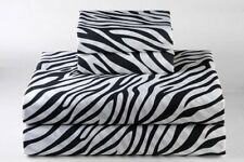 Zebra Print Bedding Item 100% Cotton Super Deep Pocket 800 Thread Count