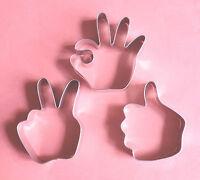Hand Symbol Signs Cookie Cutter Special Biscuit Baking Set Fantasy & Mythology