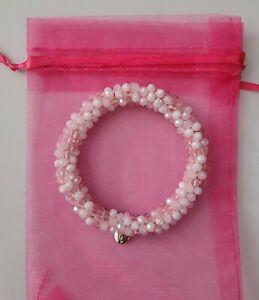 Biba Damen Crystal Crochet Armband  Rosa