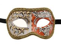 Maschera Di Venezia Columbine Night And Day Arancione Per Travestimento 1339 V74