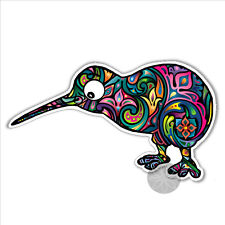 Kiwi bird new zealand colourful bumper sticker 130 x 83mm outdoor vinyl colorful