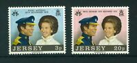 GB Jersey 1973 Royal Wedding full set of stamps. Mint. Sg 97-98.