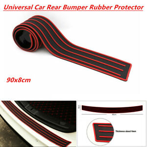 1PCS Car SUV Rear Bumper Sill/Protector Rubber Cover Guard Protective Strip Red