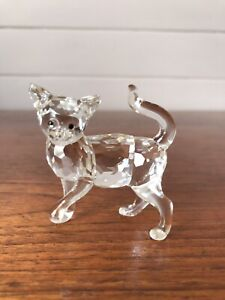 Retired Swarovski Crystal Cat Mother Peaceful Countryside 2007-1010