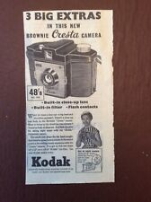 M62-9 Ephemera 1961 Advert Kodak Brownie Cresta Camera
