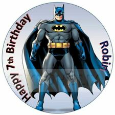 Batman Edible Birthday Cake Topper With Personalised Message Robin