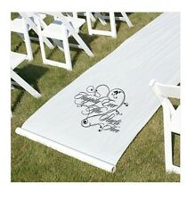 Happily Ever After White Wedding Aisle Runner NEW