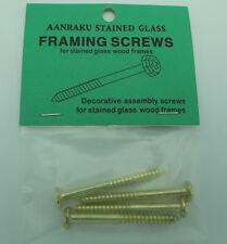 AANRAKU BRASS FRAMING SCREWS Decorative Hardware Stained Glass Supplies Pack 4