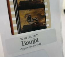 Disney Animation Authentic Film 5-Cell Strip Bambi Flower With Thumper