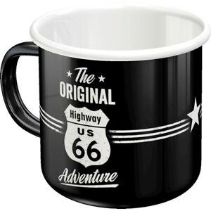 Enamel Strong Highway 66 Coffee Cup Souvenir Mug, 360 ML Coffee Mug