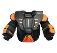 PowerTek Barikad V5.0 Ice Hockey YOUTH Goalie Goal Chest Arm Pads, S/M or L/XL
