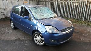Ford Fiesta mk6 OCEAN BLUE 5 DOOR PETROL BREAKING SPARE side GHIA 5dr 1.6