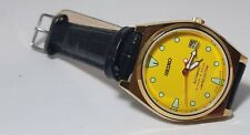 SEIKO Diver 6309 Automatic Vintage 17Jewel Yellow Dial Date Men's Wrist Watch