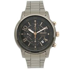 Seiko SNDW83 P1 Dark Bronze Chronograph Women's Large Analog Quartz Watch