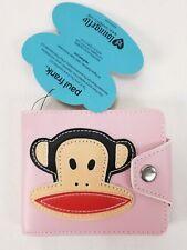 Paul Frank's Women's Wallet Loungefly Monkey Pink Leather Snap Bifold