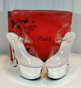 Sky-308, 7'' Stiletto Heel Ankle Strap Sandal by PleaserUSA Size 8 M