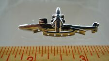 US NAVY Licensed SUBMARINE DOLPHIN SSBN PATROL PIN SOLID STERLING PIN BADGE