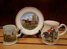 "Copeland Spode ""The Huntsman"" by J F Herring Sen. Plate and 2 Mugs England"