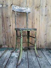 Vintage CHIC INDUSTRIAL Stool SLEEK Machine Age Shop Chair STEAMPUNK Antique