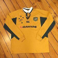 Vintage Canterbury Australia Wallabies Rugby Jersey XL Polo Qantas
