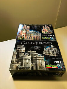 Wrebbit 3D Game of Thrones (GoT) 3D Puzzles - Winterfell, Red Keep - Complete