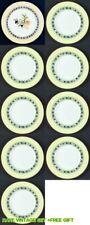"Royal Doulton Carmina 11"" Lemons 1 Dinner plate + 8 Small plates = set of 9"