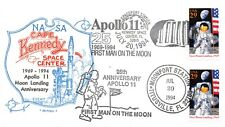 25TH ANNIV. MOON LANDING KSC & TITUSVILLE 7/20/94 FD USE  2-29C STAMPS SC#2841a