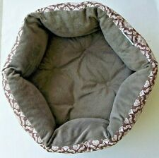 Cat Kitten Small Dog Supersoft Cozy PET BED Brown Floral EC Clean Free Shipping