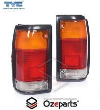 Set Pair LH+RH Tail Light Black For Ford Courier PC PD Mazda B Ser Bravo UF Ute