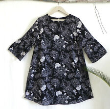 Ingrid Isabel Maternity Dress Black/White Floral Bell,3/4 Sleeve Size L