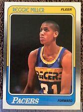 "#57 Reggie Miller RC; 1988-89 Fleer; RC ""Quality Collection Break"" 1989; HOF"