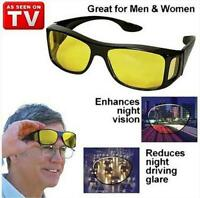Night Driving Glasses HD Anti Glare Vision Polarized Yellow Lens Tinted Unisex Q