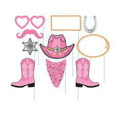 Pink Bandana Photo Booth Props Western Cowgirl Party Supplies Decorations